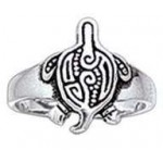 Aboriginal Turtle Silver Toe Ring