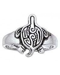 Aboriginal Turtle Silver Toe Ring