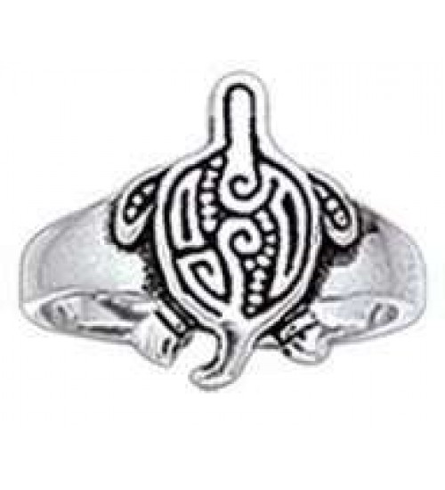 Aboriginal Turtle Silver Toe Ring at All Wicca Store Magickal Supplies, Wiccan Supplies, Wicca Books, Pagan Jewelry, Altar Statues