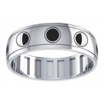 Phases of the Moon Sterling Silver Fidget Spinner Ring