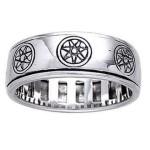 Elven Star Sterling Silver Fidget Spinner Ring