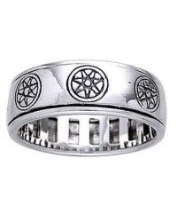 Elven Star Sterling Silver Fidget Spinner Ring