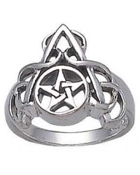 Arched Pentacle Sterling Silver Ring All Wicca Store Magickal Supplies Wiccan Supplies, Wicca Books, Pagan Jewelry, Altar Statues