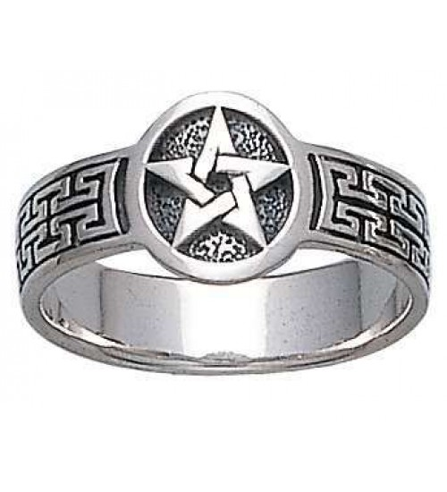 Pentacle Sterling Silver Ring at All Wicca Store Magickal Supplies, Wiccan Supplies, Wicca Books, Pagan Jewelry, Altar Statues
