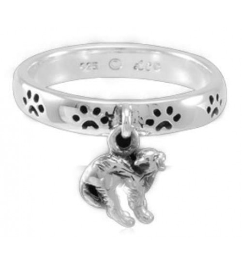 Cat Familiar Laurie Cabot Paw Print Ring
