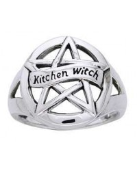Kitchen Witch Pentacle Sterling Silver Ring All Wicca Store Magickal Supplies Wiccan Supplies, Wicca Books, Pagan Jewelry, Altar Statues