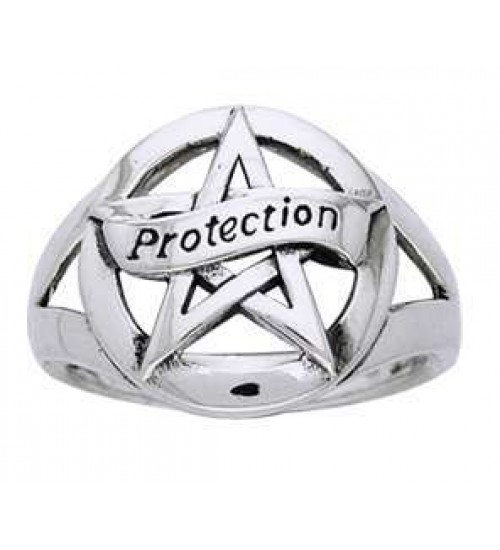 Protection Pentacle Sterling Silver Ring at All Wicca Store Magickal Supplies, Wiccan Supplies, Wicca Books, Pagan Jewelry, Altar Statues