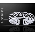 Celtic Knot Silver Toe Ring
