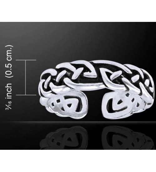 Celtic Knot Silver Toe Ring at All Wicca Store Magickal Supplies, Wiccan Supplies, Wicca Books, Pagan Jewelry, Altar Statues