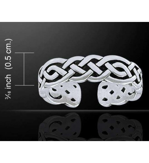 Celtic Knotwork Silver Toe Ring at All Wicca Store Magickal Supplies, Wiccan Supplies, Wicca Books, Pagan Jewelry, Altar Statues