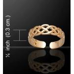 Celtic Knotwork Gold Vermeil Toe Ring
