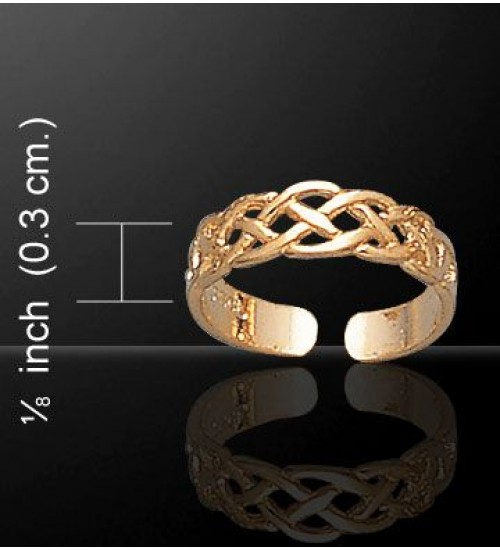 Celtic Knotwork Gold Vermeil Toe Ring at All Wicca Store Magickal Supplies, Wiccan Supplies, Wicca Books, Pagan Jewelry, Altar Statues