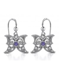 Amethyst Blue Moon Silver Earrings All Wicca Store Magickal Supplies Wiccan Supplies, Wicca Books, Pagan Jewelry, Altar Statues