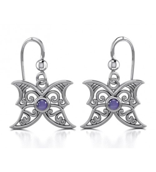 Amethyst Blue Moon Silver Earrings at All Wicca Store Magickal Supplies, Wiccan Supplies, Wicca Books, Pagan Jewelry, Altar Statues