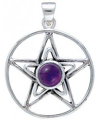 Pentacle in Pentacle Pendant with Gemstone All Wicca Magickal Supplies Wiccan Supplies, Wicca Books, Pagan Jewelry, Altar Statues