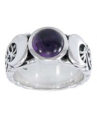 Triple Moon Gemstone Ring All Wicca Store Magickal Supplies Wiccan Supplies, Wicca Books, Pagan Jewelry, Altar Statues
