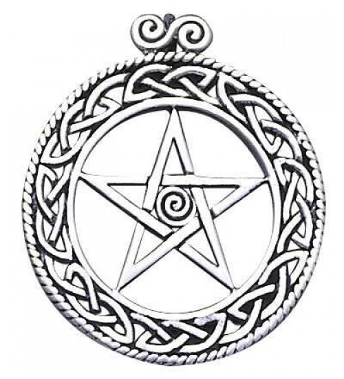 Openwork Pentacle Pendant in Sterling Silver at All Wicca Store Magickal Supplies, Wiccan Supplies, Wicca Books, Pagan Jewelry, Altar Statues