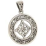 Celtic Quaternary Knot Sterling Silver Pendant