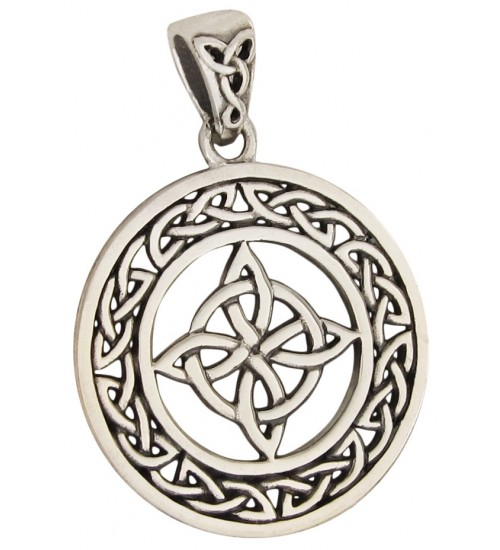 Celtic Quaternary Knot Sterling Silver Pendant at All Wicca Store Magickal Supplies, Wiccan Supplies, Wicca Books, Pagan Jewelry, Altar Statues