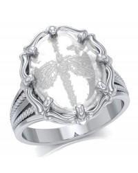 Dragonfly Natural Clear Quartz Ring