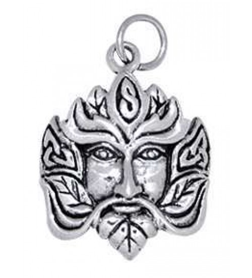 Green Man Sterling Silver Charm at All Wicca Store Magickal Supplies, Wiccan Supplies, Wicca Books, Pagan Jewelry, Altar Statues