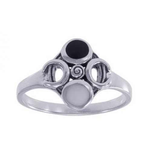 Moon Magick Sterling Silver Ring at All Wicca Store Magickal Supplies, Wiccan Supplies, Wicca Books, Pagan Jewelry, Altar Statues