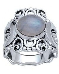 Moonstone Triple Moon Intricate Silver Ring All Wicca Store Magickal Supplies Wiccan Supplies, Wicca Books, Pagan Jewelry, Altar Statues