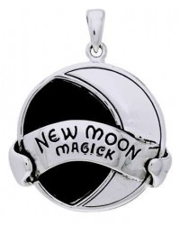 New Moon Magick Sterling Silver Pendant All Wicca Store Magickal Supplies Wiccan Supplies, Wicca Books, Pagan Jewelry, Altar Statues