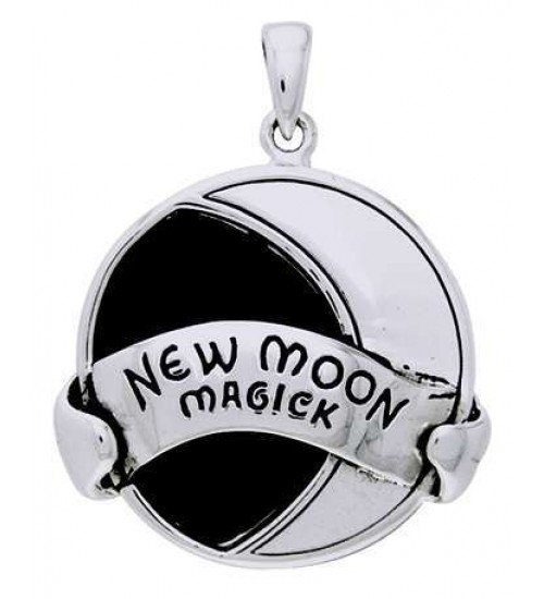 New Moon Magick Sterling Silver Pendant at All Wicca Store Magickal Supplies, Wiccan Supplies, Wicca Books, Pagan Jewelry, Altar Statues