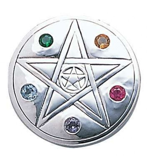 Pentacle Disc Sterling Silver Pendant at All Wicca Store Magickal Supplies, Wiccan Supplies, Wicca Books, Pagan Jewelry, Altar Statues