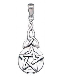 Pentacle Knot Sterling Silver Pentagram Pendant All Wicca Magickal Supplies Wiccan Supplies, Wicca Books, Pagan Jewelry, Altar Statues