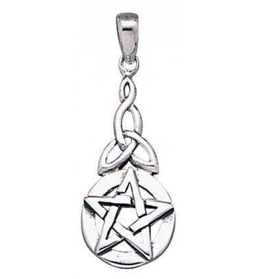 Pentacle Knot Sterling Silver Pentagram Pendant at All Wicca Store Magickal Supplies, Wiccan Supplies, Wicca Books, Pagan Jewelry, Altar Statues