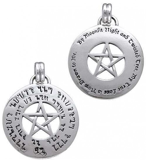 Love Pentacle Amulet in Sterling Silver at All Wicca Store Magickal Supplies, Wiccan Supplies, Wicca Books, Pagan Jewelry, Altar Statues