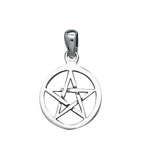 Pentacle Mini Sterling Silver Pendant at All Wicca Magickal Supplies, Wiccan Supplies, Wicca Books, Pagan Jewelry, Altar Statues