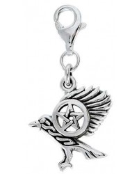 Raven Pentacle Mystical Clip On Charm All Wicca Store Magickal Supplies Wiccan Supplies, Wicca Books, Pagan Jewelry, Altar Statues