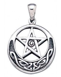 Spiral Pentacle Sterling Silver Pentagram Pendant All Wicca Store Magickal Supplies Wiccan Supplies, Wicca Books, Pagan Jewelry, Altar Statues