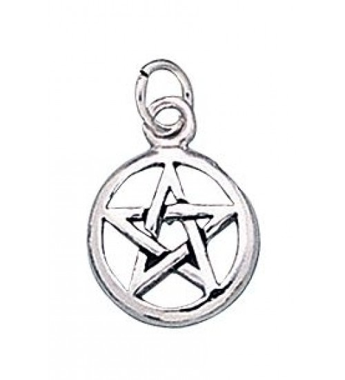 Pentacle Sterling Silver Charm at All Wicca Store Magickal Supplies, Wiccan Supplies, Wicca Books, Pagan Jewelry, Altar Statues
