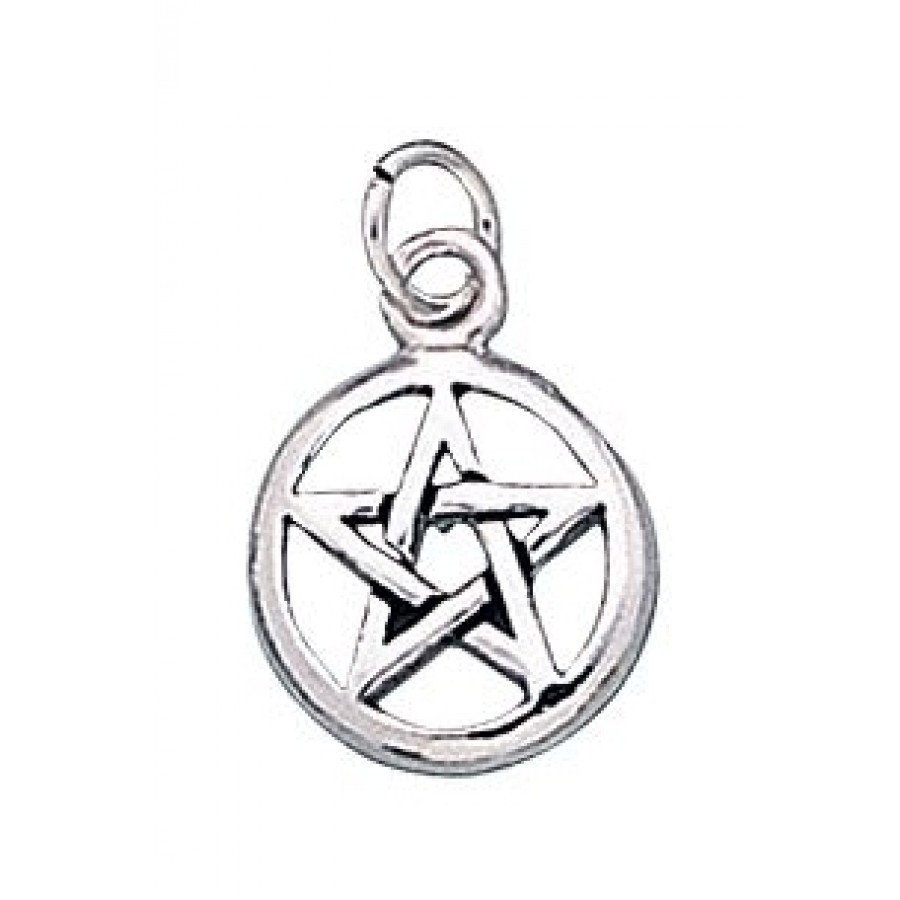 Pentacle Sterling Silver Charm Pagan Witch Wicca Jewelry