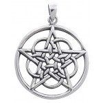 Woven Pentacle Pendant in Sterling Silver