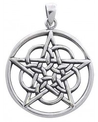 Woven Pentacle Pendant in Sterling Silver All Wicca Store Magickal Supplies Wiccan Supplies, Wicca Books, Pagan Jewelry, Altar Statues