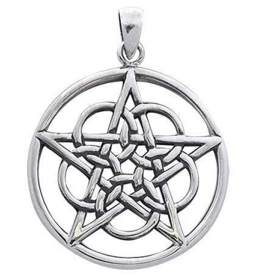 Woven Pentacle Pendant in Sterling Silver at All Wicca Store Magickal Supplies, Wiccan Supplies, Wicca Books, Pagan Jewelry, Altar Statues