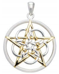 Textured Silver and Gold Pentagram Pendant All Wicca Store Magickal Supplies Wiccan Supplies, Wicca Books, Pagan Jewelry, Altar Statues