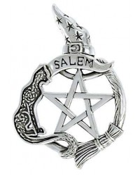 Salem Cat Pentacle Sterling Silver Pendant All Wicca Store Magickal Supplies Wiccan Supplies, Wicca Books, Pagan Jewelry, Altar Statues