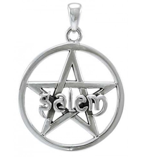 Salem Pentagram Sterling Silver Pendant at All Wicca Store Magickal Supplies, Wiccan Supplies, Wicca Books, Pagan Jewelry, Altar Statues