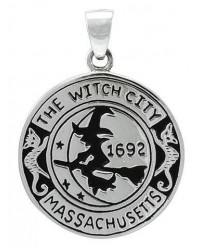 Salem Witch Commerative Sterling Silver Pendant All Wicca Store Magickal Supplies Wiccan Supplies, Wicca Books, Pagan Jewelry, Altar Statues