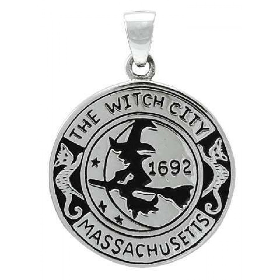 Salem witch commerative sterling silver pendant wicca witch pagan salem witch commerative sterling silver pendant at all wicca supply shop wiccan supplies all aloadofball Gallery
