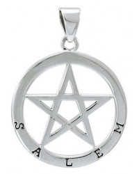Salem Witch Pentagram Sterling Silver Pendant All Wicca Store Magickal Supplies Wiccan Supplies, Wicca Books, Pagan Jewelry, Altar Statues
