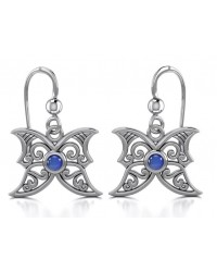 Sapphire Blue Moon Silver Earrings All Wicca Store Magickal Supplies Wiccan Supplies, Wicca Books, Pagan Jewelry, Altar Statues