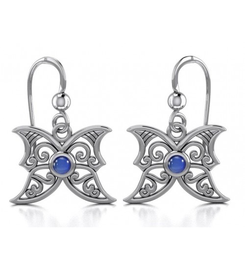 Sapphire Blue Moon Silver Earrings at All Wicca Store Magickal Supplies, Wiccan Supplies, Wicca Books, Pagan Jewelry, Altar Statues