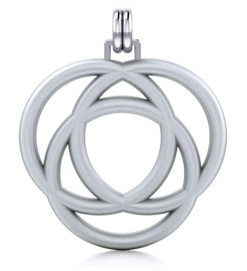 Avalon Triad Silver Unity Pendant at All Wicca Store Magickal Supplies, Wiccan Supplies, Wicca Books, Pagan Jewelry, Altar Statues